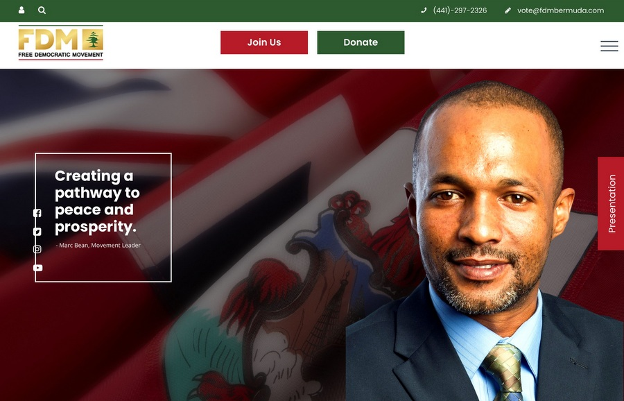 Marc Bean Launches FDM Political Party